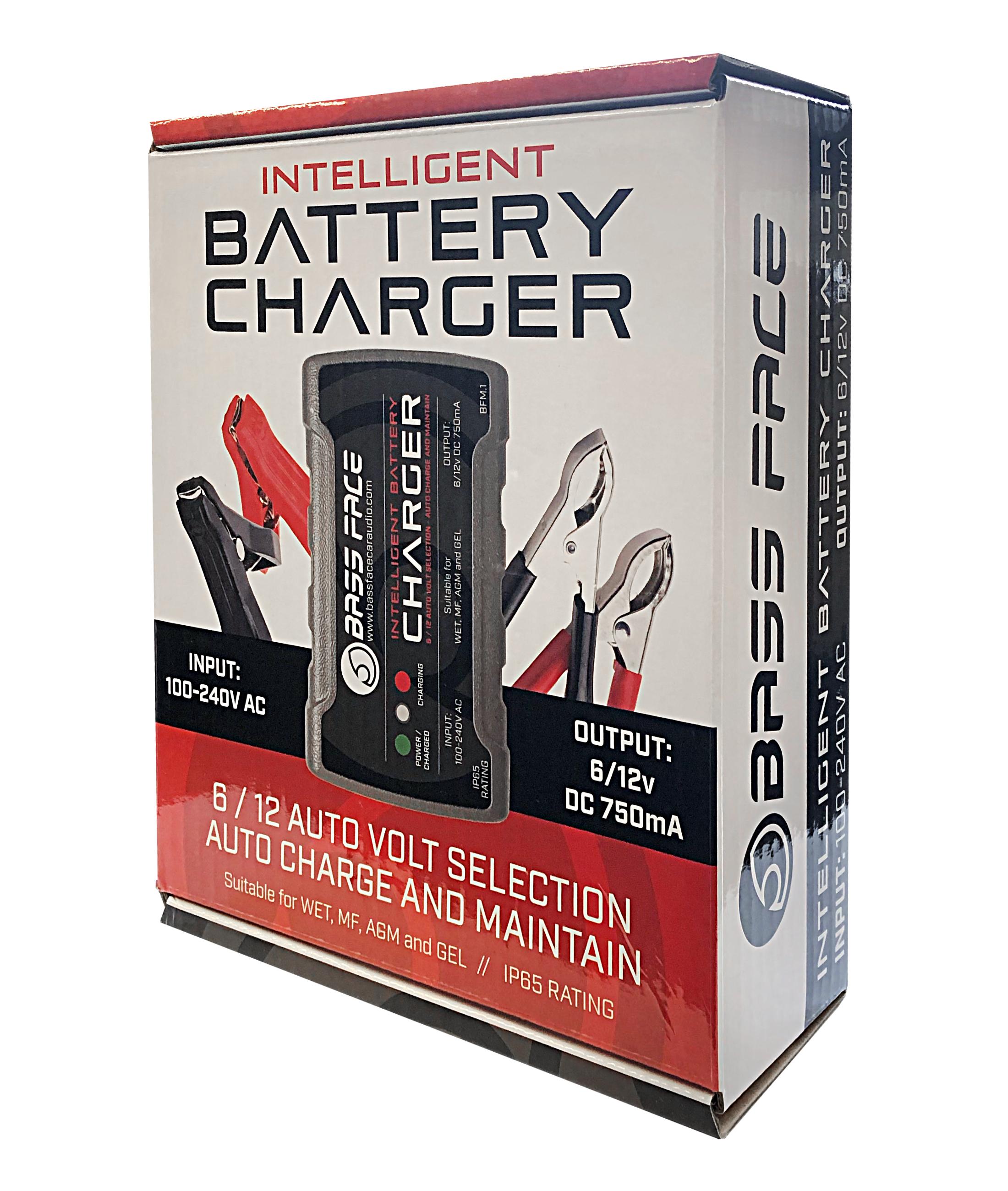 Bassface BFM.1 0.75Amp 6//12v Smart Trickle Car Bike Battery Maintenance Charger