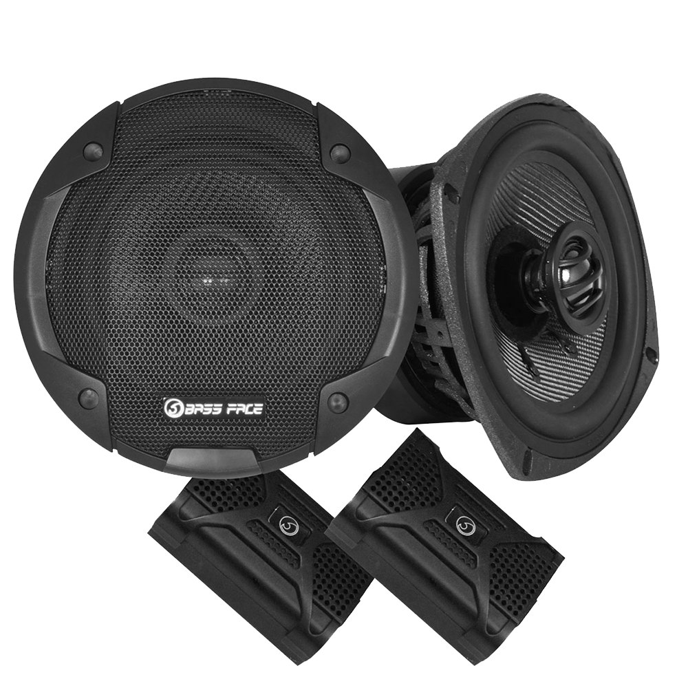 "BLACKSPL5.1 5.25"" Inch 13cm 4Ohm Coaxial 2 Way Speaker Pair 320w RMS"