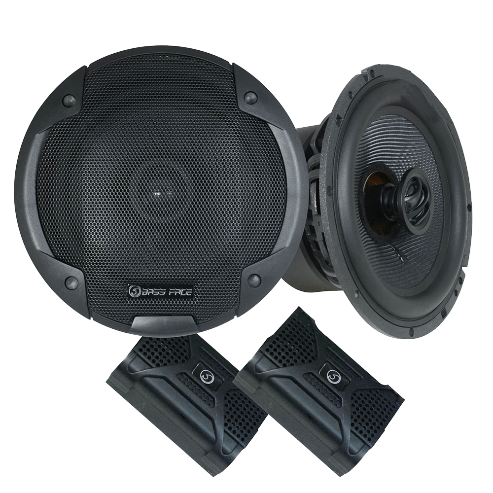 "BLACKSPL6.1 6.5"" Inch 17cm 4Ohm Coaxial 2 Way Speaker Pair 370w RMS"