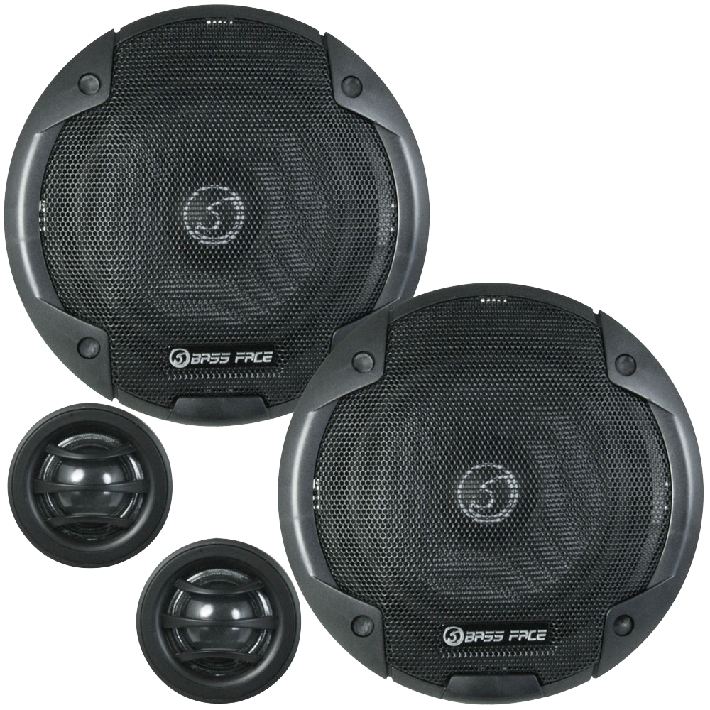 "BLACKSPL6C.1 6.5"" Inch 17cm 4Ohm Component Speaker & Tweeter Kit 450w RMS"