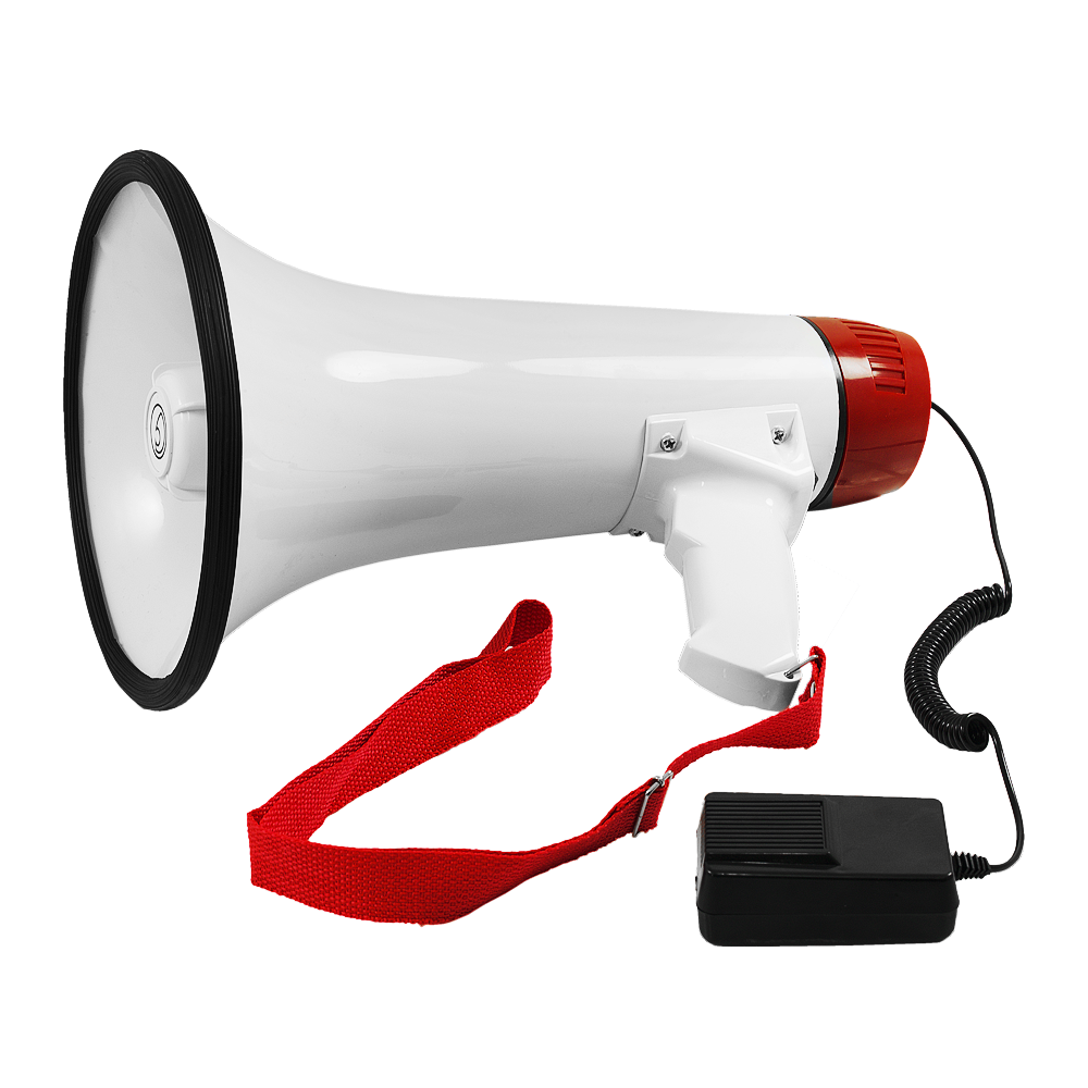 MP1.2 Battery Powered Pistol Grip Megaphone With 500m Voice Range