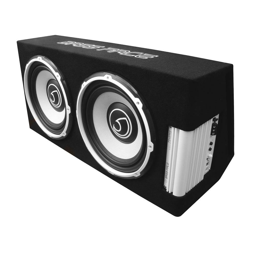 """POWER12.2 Twin 12"""" Inch 30cm Subwoofer Unit With Integrated Class D 12v Power Amplifier 1300w RMS"""