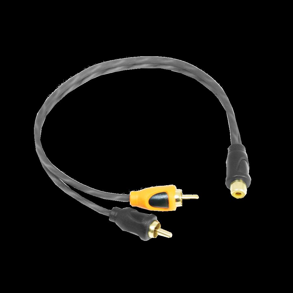 PRCYF.1 Twin Core Pure OFC Twist RCA Audio Y Lead Splitter 1F 2M