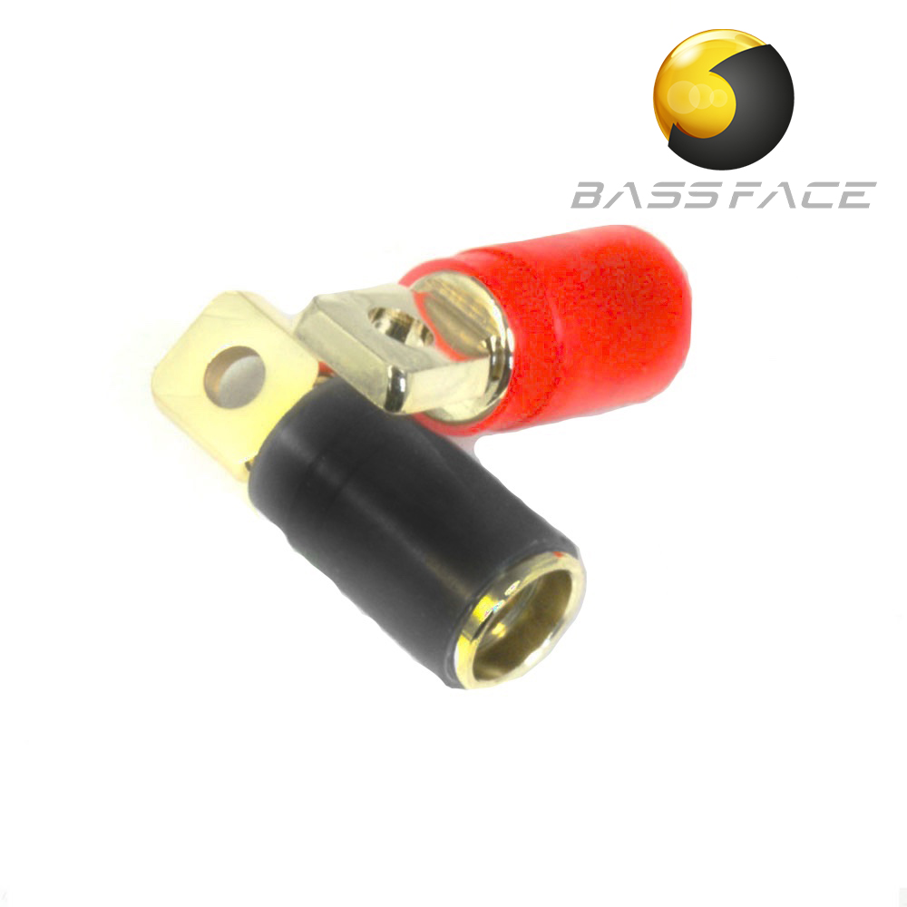 Bassface Car Audio The Specialists 1channel Dvc Wiring Diagram Prt01 Gold Plated 0awg 50mm Ring Terminals Pair