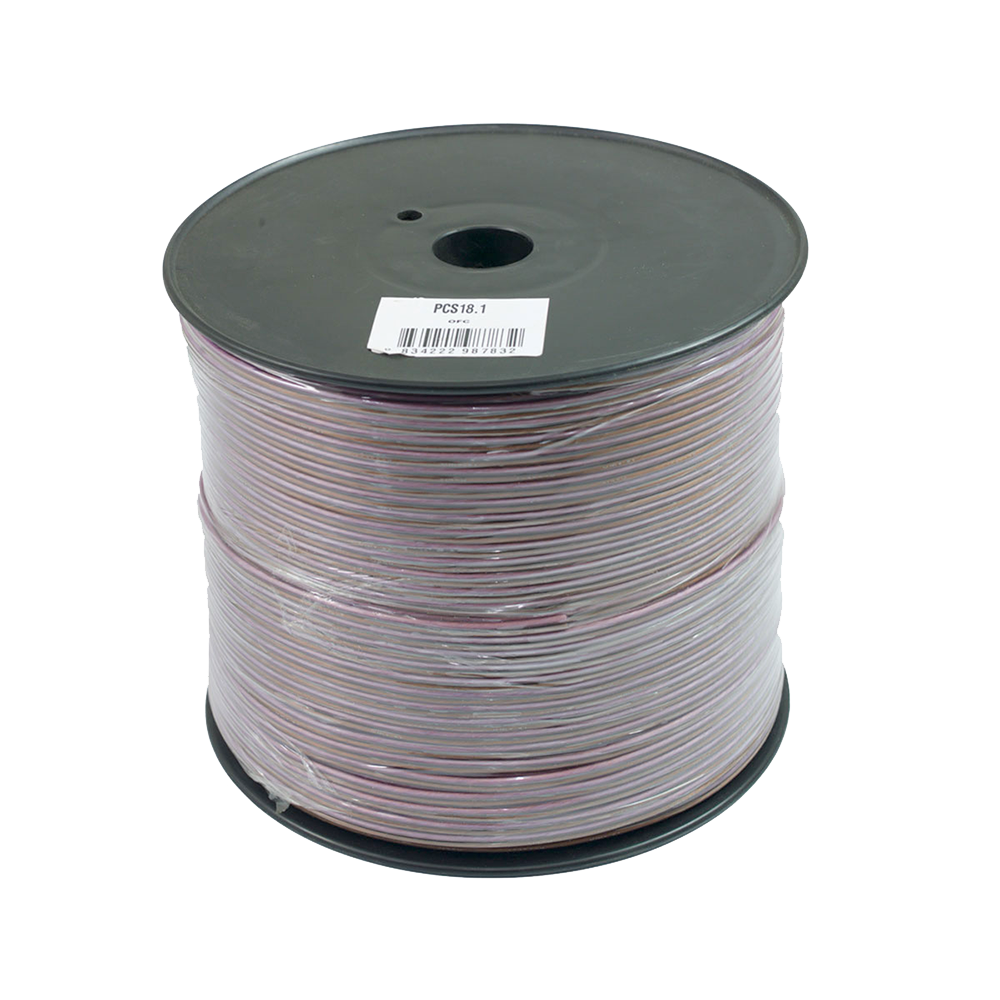 PSC18.1 300m Roll 18AWG .82mm 15% CCA Speaker Cable 70 Strand