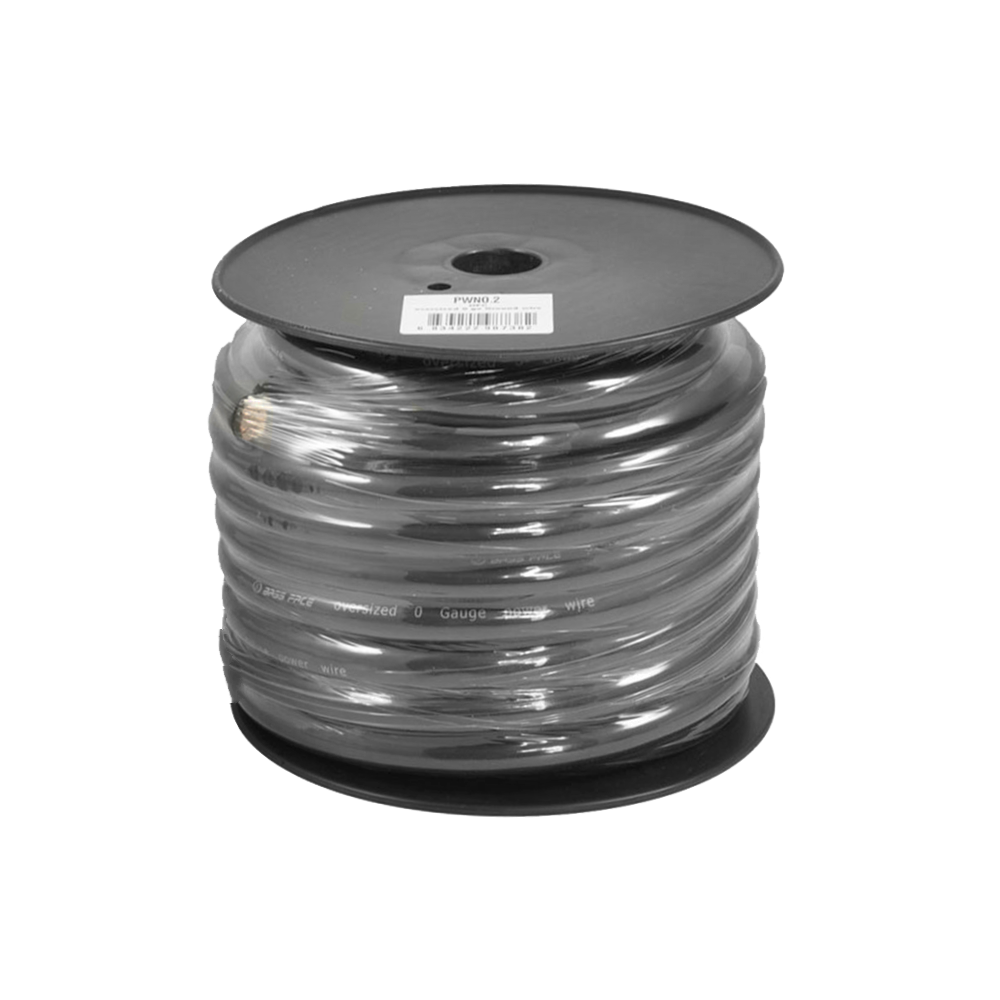 PWN0.2 15m Roll OFC 0AWG 53mm Black Negative Cable 5250 Strand