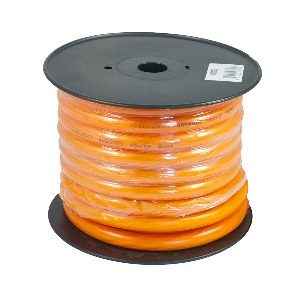 PWP00.2 15m Roll CCA 00AWG 53+mm Orange Power Cable 5929 Strand