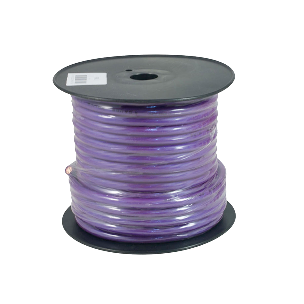 PWP4.2 30m Roll OFC 4AWG 21mm Purple Power Cable 1862 Strand