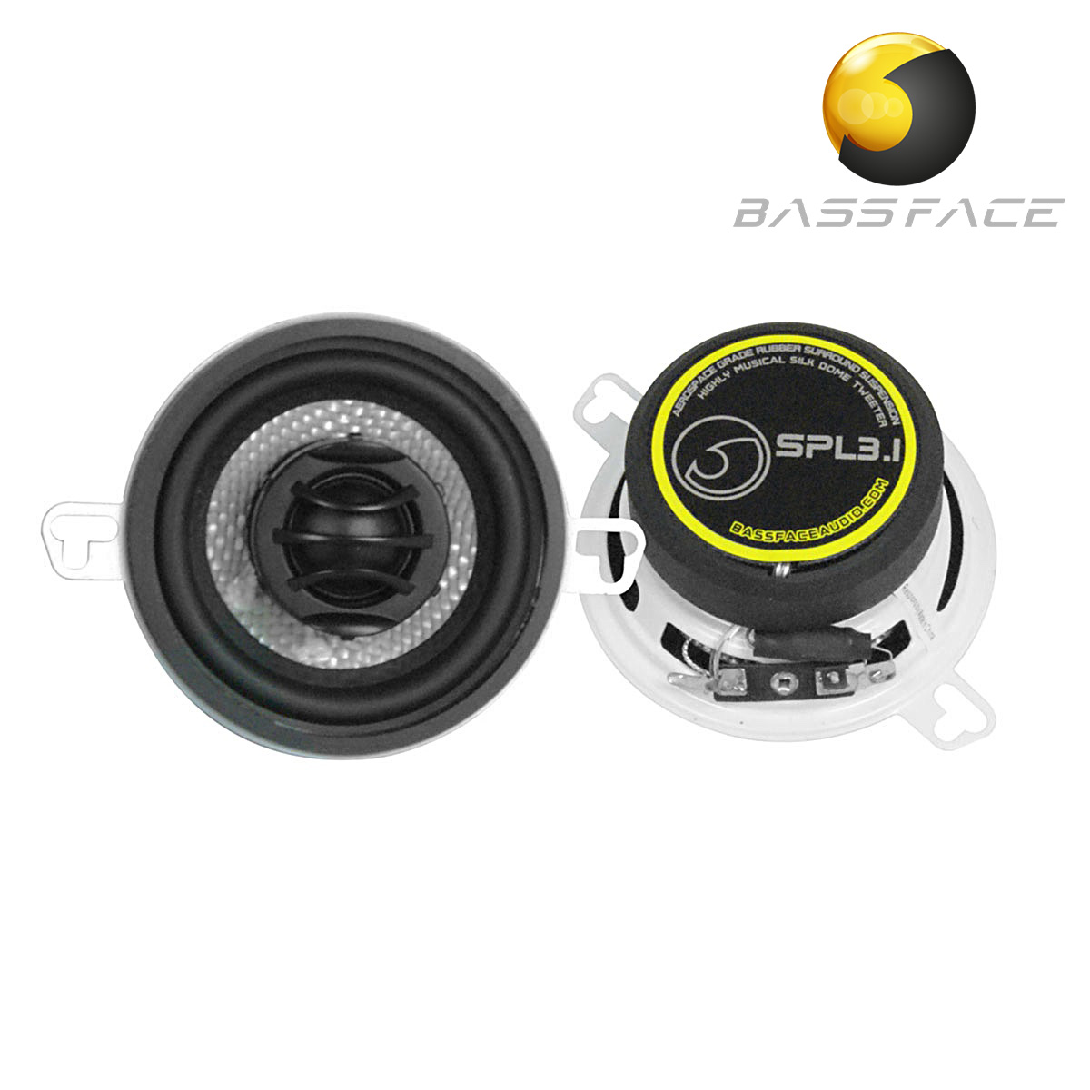 Bassface Car Audio The Specialists Multi Channel Lifiers Electronics On Speakers Wiring Kit Spl31 35 8cm 4ohm Coaxial 2 Way Speaker Pair 100w Rms