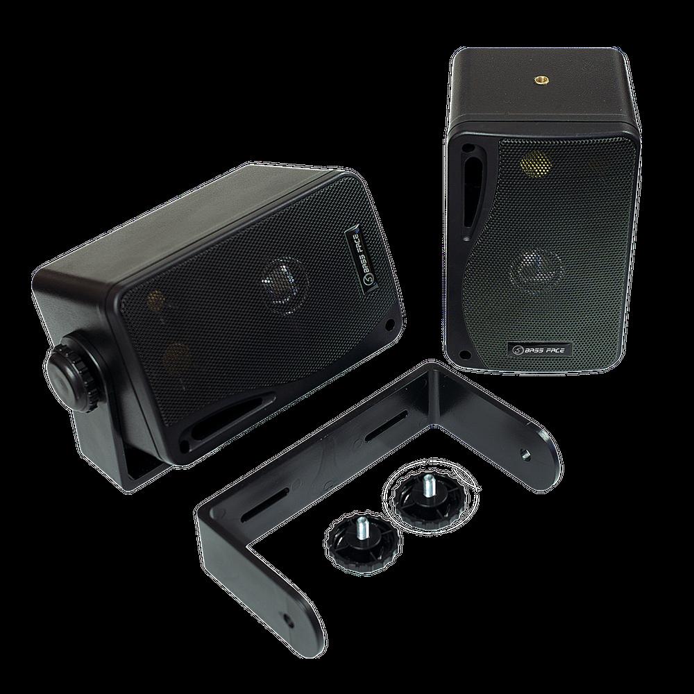 SPLBOX.1 4Ohm Waterproof Mini Box Speaker Pair 100w RMS Black