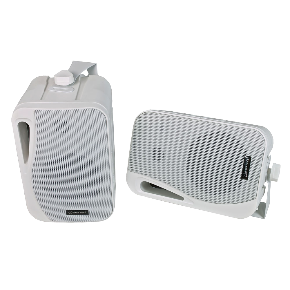 SPLBOX.2 4Ohm Waterproof Mini Box Speaker Pair 200w RMS White