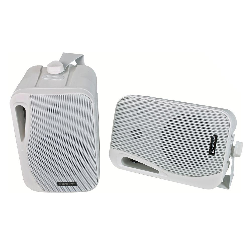 SPLBOX.2 4Ohm Waterproof Mini Box Speaker Pair 200w RMS White