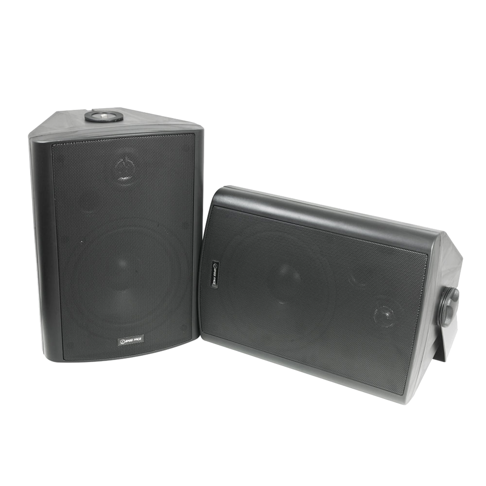 SPLBOX.3B 8Ohm Waterproof Mini Box Speaker Pair 300w RMS Black