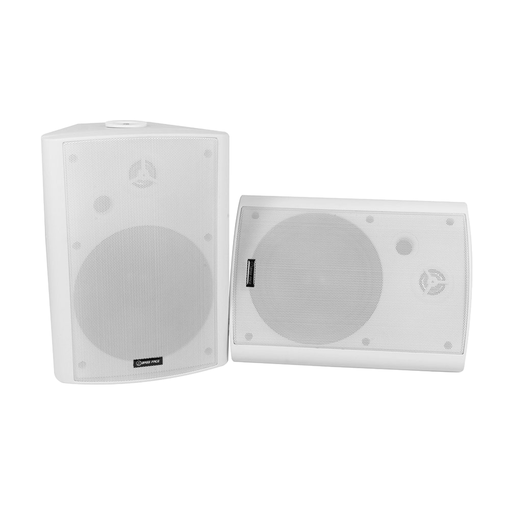 SPLBOX.3W 8Ohm Waterproof Mini Box Speaker Pair 300w RMS White