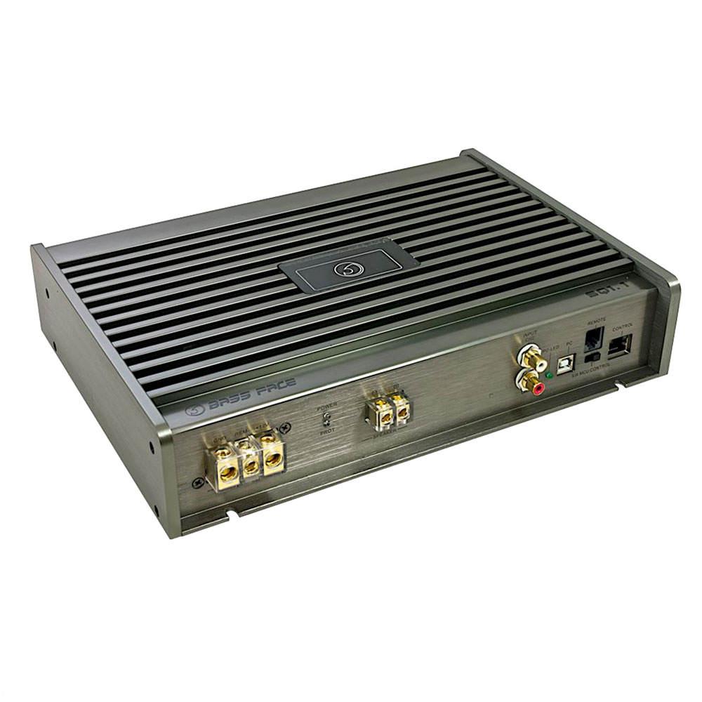 SQ1.1 Class D Monoblock Subwoofer 12v Power Amplifier With DSP & PC Software Control 1500w RMS