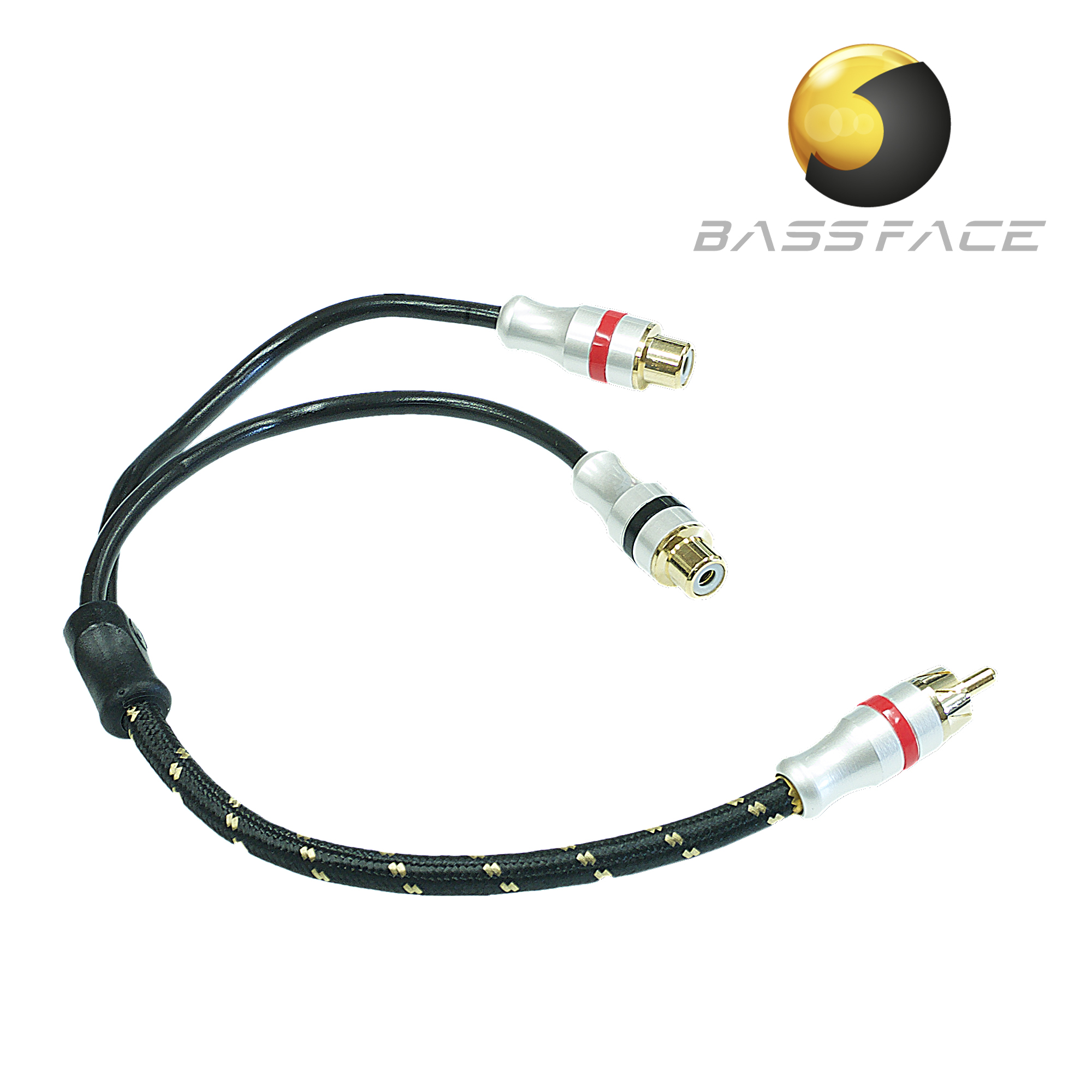 Bassface Car Audio The Specialists Double Socket Wiring Diagram Uk Prcaym2 Quad Core Pure Ofc Twist Shielded Rca Y Lead Splitter 2m 1f